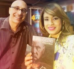 Escritor Patricio Milad. Entrevista en Noticiero 45TV, con Ninoska Morales. Lanzamiento Novela CASINO.