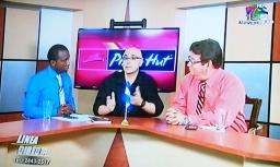 Escritor Patricio Milad. Entrevista en Noticiero TELECEIBA, con Pablo Guitty y Ruben Bonilla. Lanzamiento Novela CASINO
