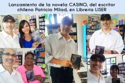 Lanzamiento novela CASINO, de Patricio Milad, en Librería LISER