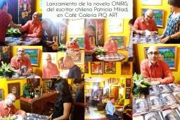 Lanzamiento Novela ONIRIS en Café Galería PIQ ART