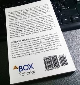 Ejemplar de prueba, novela FUEGO, escritor Patricio Milad 2