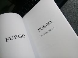 Ejemplar de prueba, novela FUEGO, escritor Patricio Milad 5
