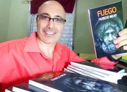 Lanzamiento novela FUEGO. Escritor Patricio Milad, obra distópica, nuevos ejemplares